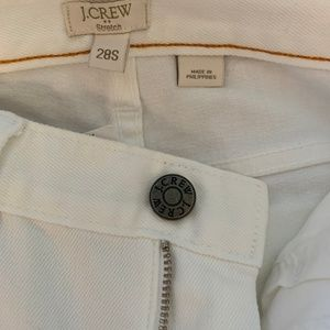 J Crew White Matchstick Skinny Jean 28S NWT